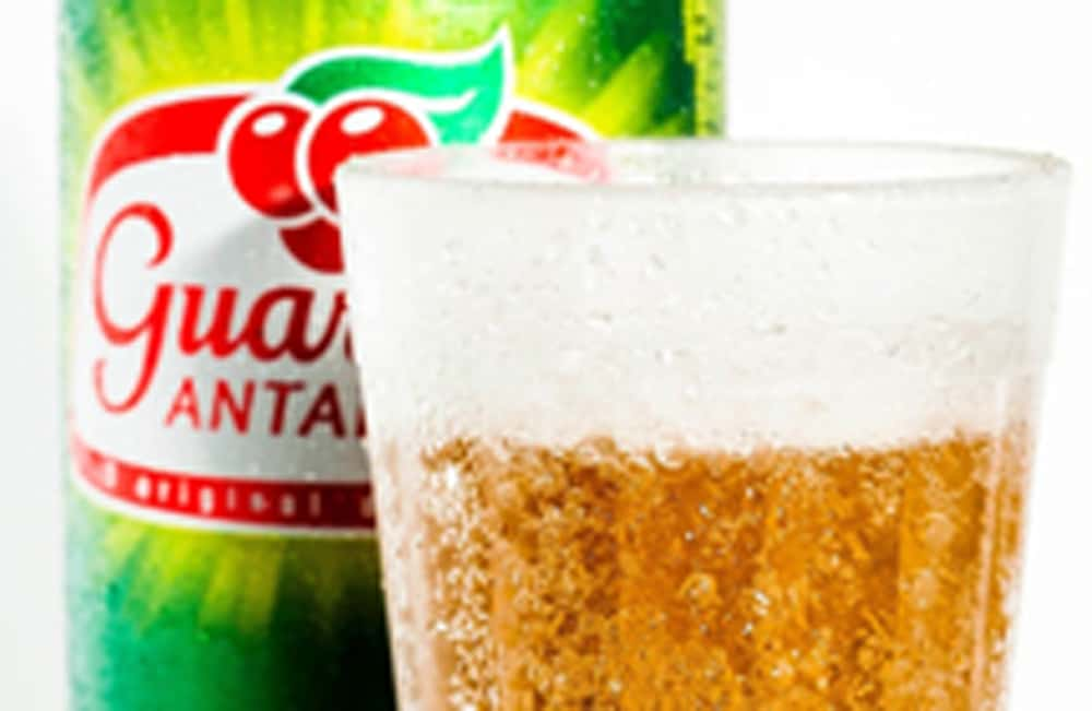 guarana Antarctica soda and glass