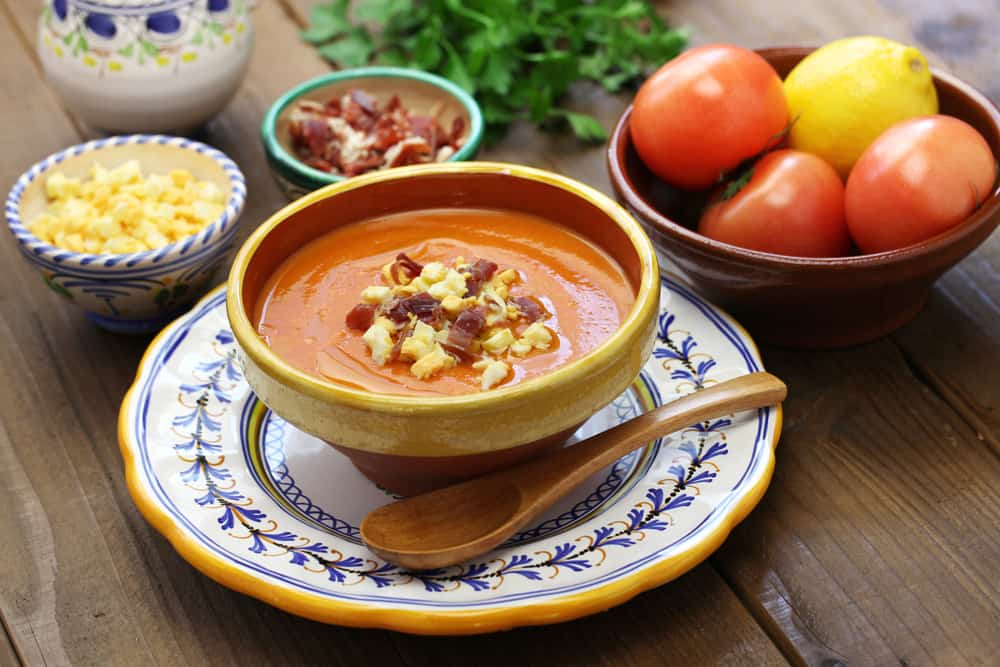 Bowl of Spanish Salmorejo Soup