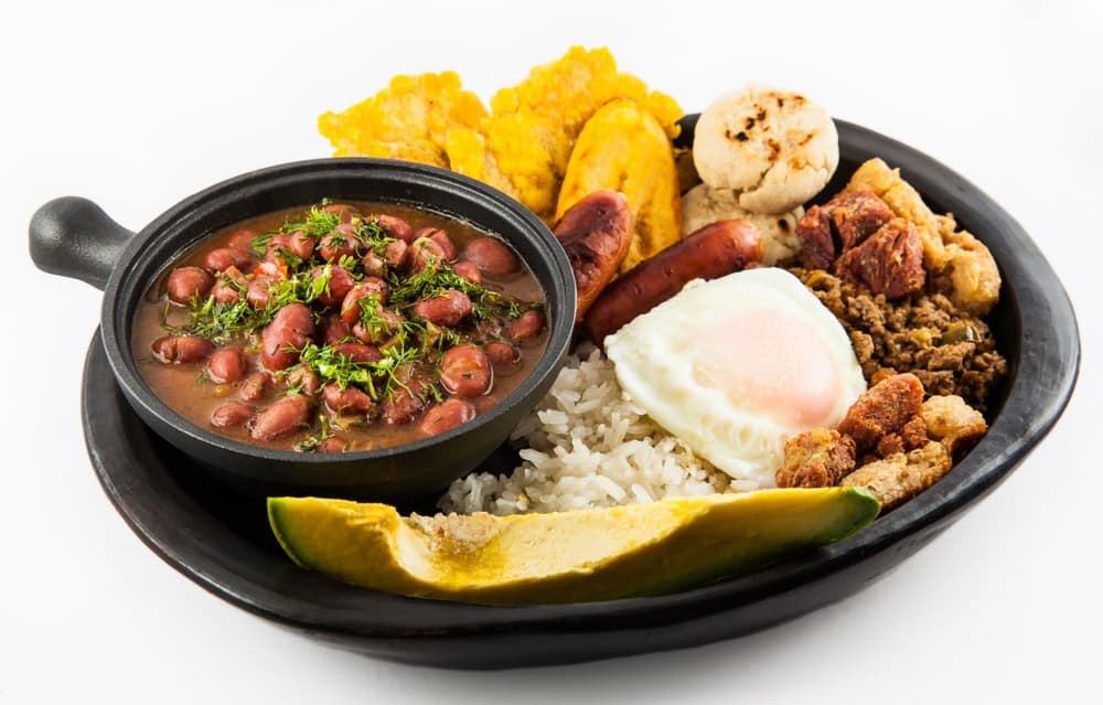 Colombian Dish of Bandeja Paisa
