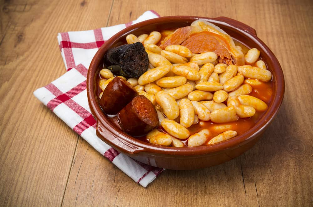 Bowl of Spanish Fabada Asturiana
