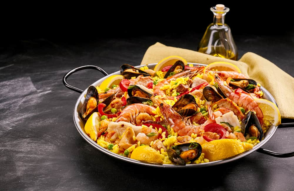 Platter of Spanish Seafood Paella
