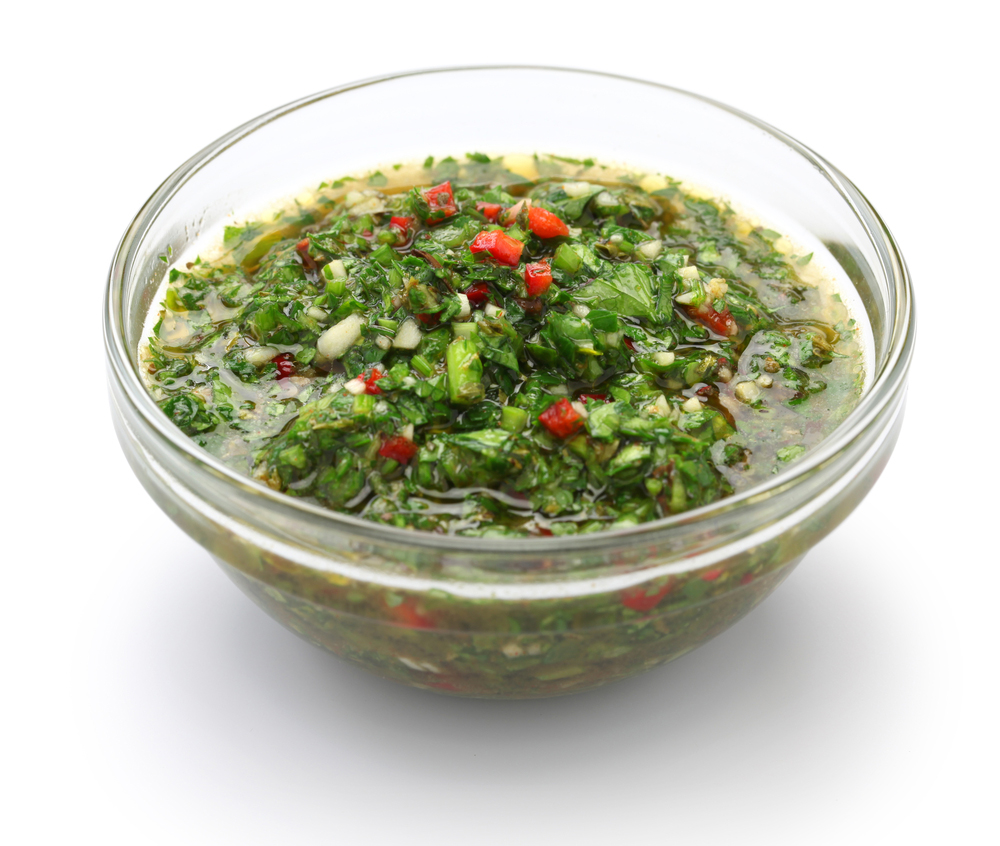 Bowl of Argentinian Chimichurri Sauce