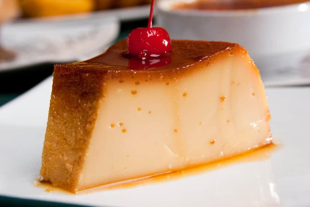 Piece of Cream Volteada Cake