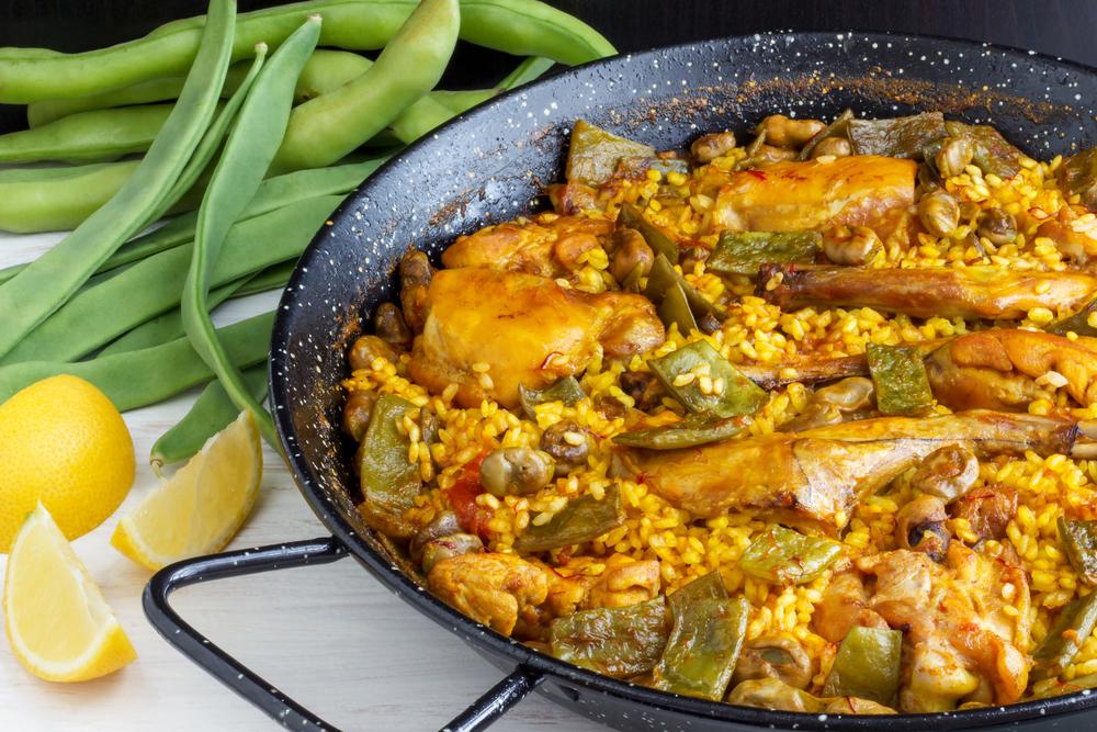 Paella pan of traditional Valencian Paella