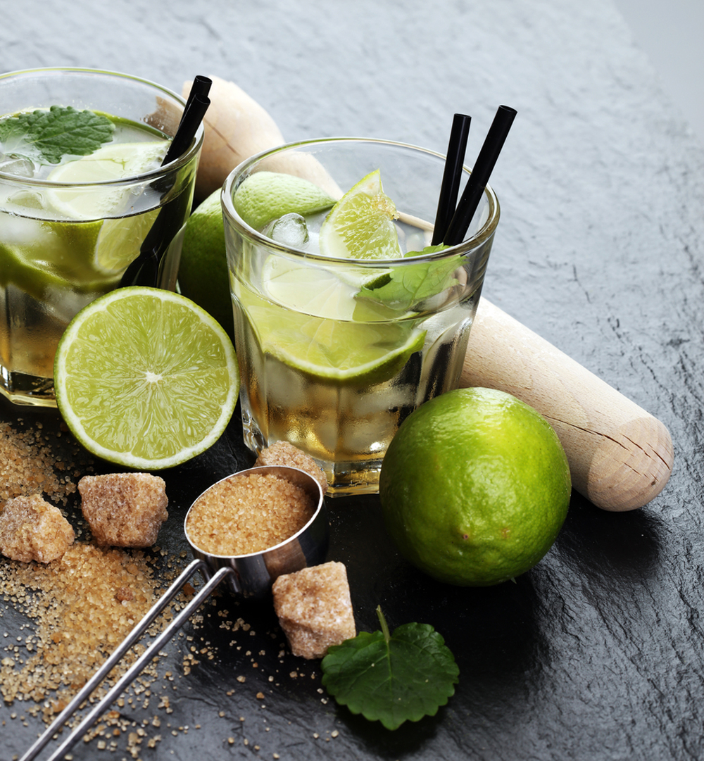 Brazilian Caipirinha Latin Drink and limes