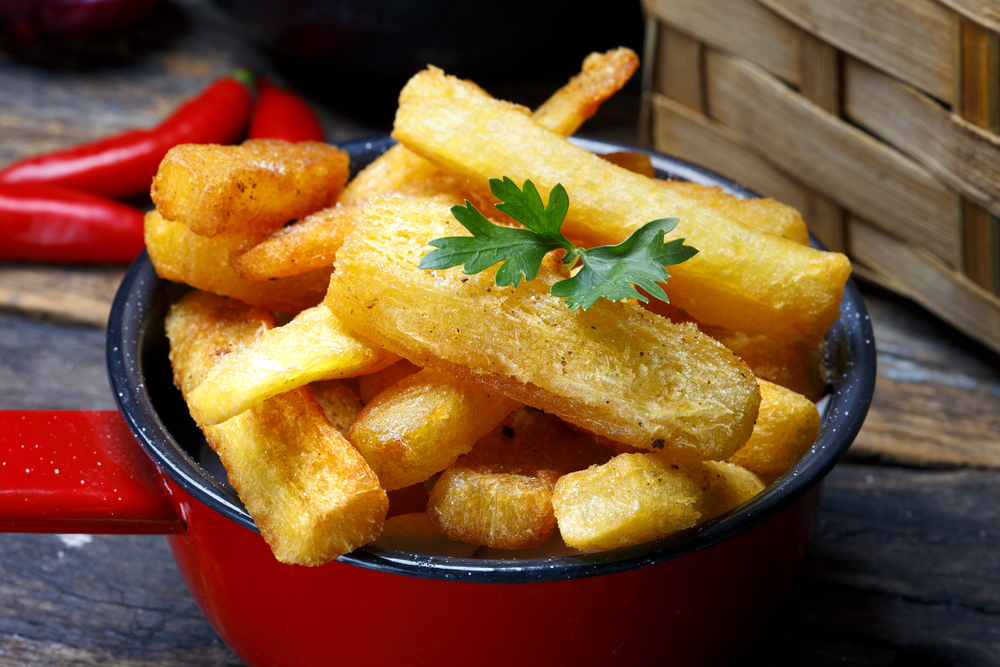 Aipim Frito Brazilian Cassava Fries in a bowl