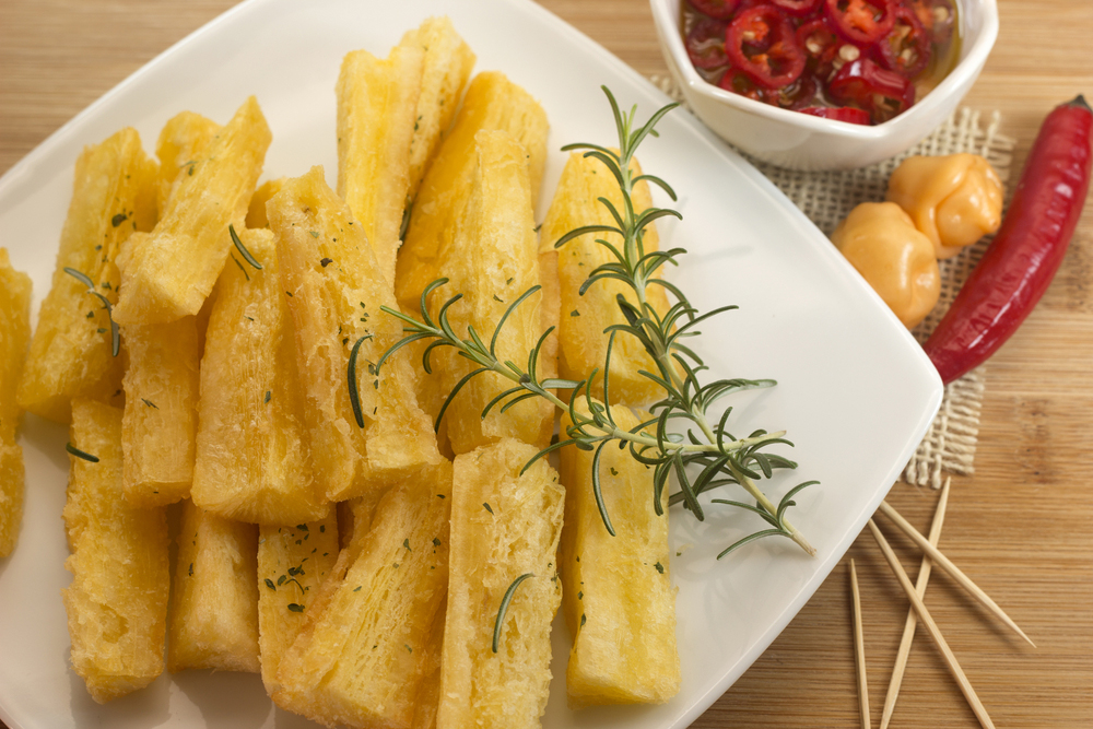 Plate of Brazilian Yuca Fries