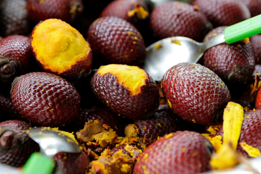 Pieces of Buriti Brazilian Fruit
