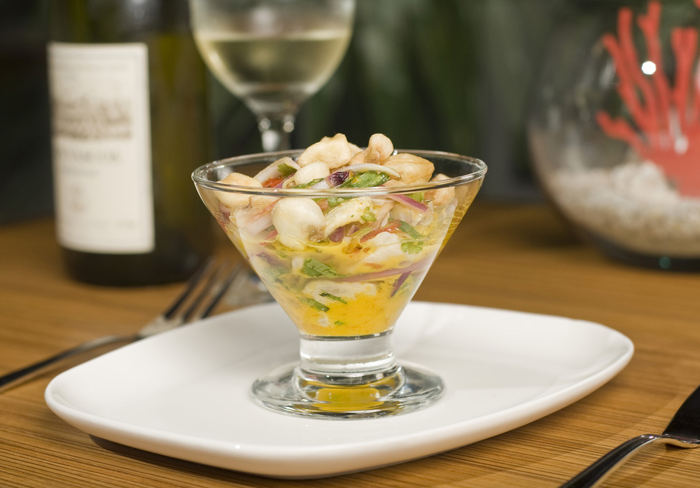 Colombain ceviche and Colombian wine pairing