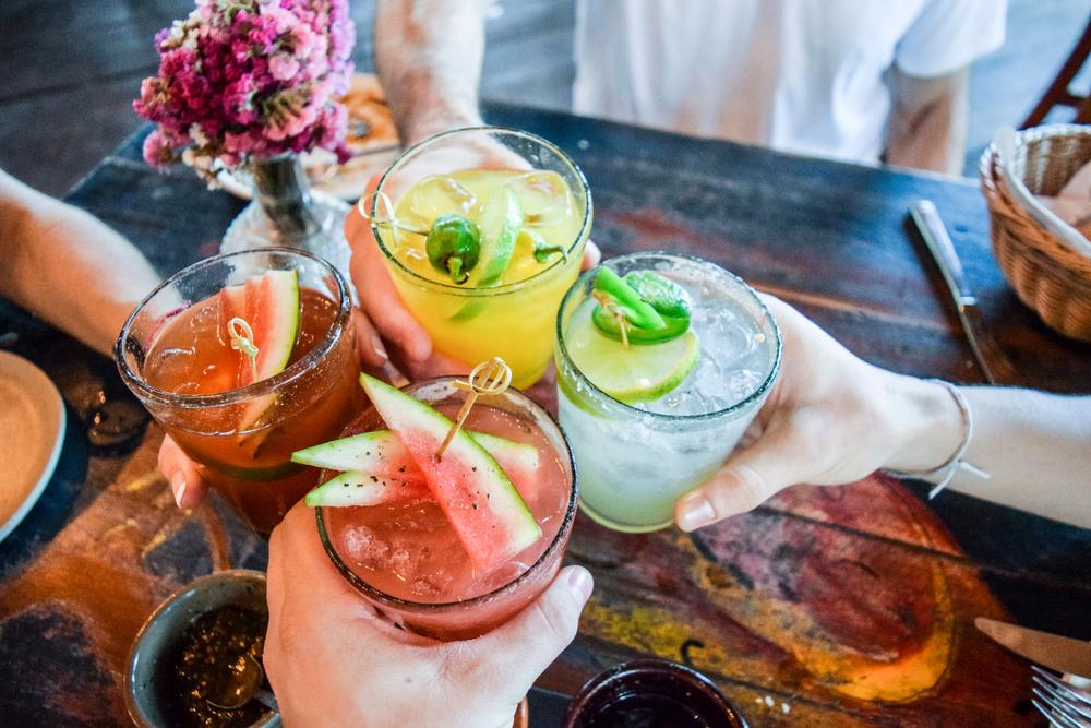 Four Latin Drinks Cheering