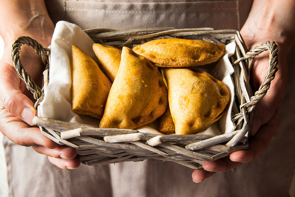 Vegan Empanadas in a basket