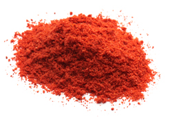 Ground Paprika on white plate