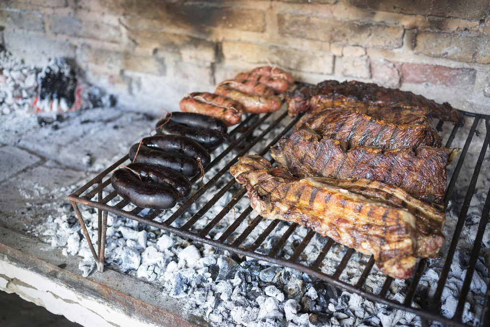 Patagonia's asado, steak, chicken and sausage on bbq