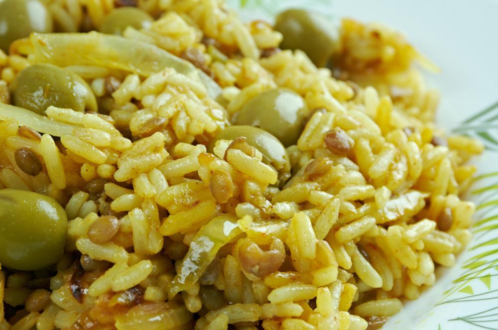 Puerto Rican dish of arroz con gandules