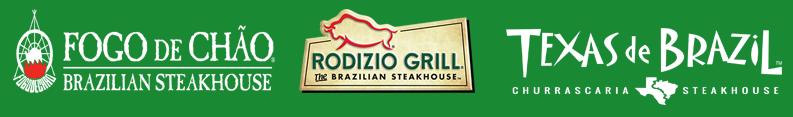 Logos of popular Brazilian restaurants in the USA