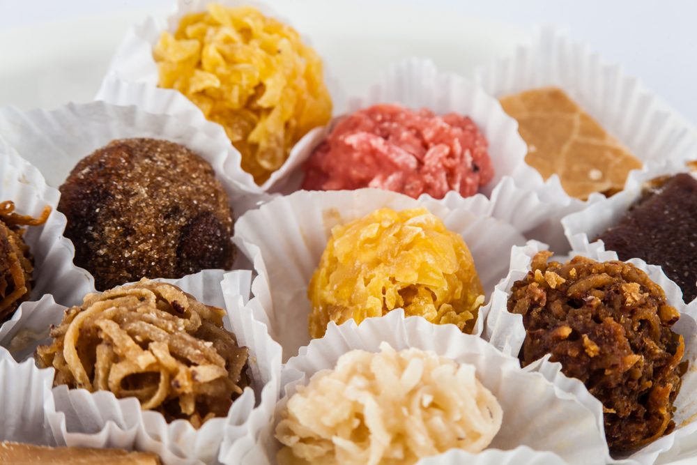 Assorted Colorful Colombian Cocadas Candies served in foils
