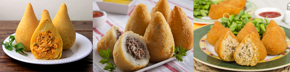 Variations of Brazilian Dish of Coxinhas