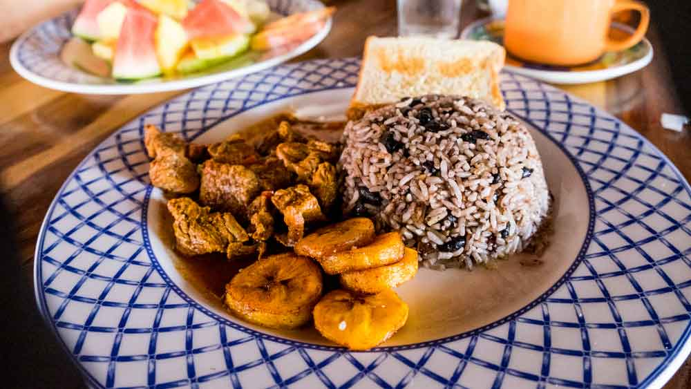 Plate of Gallo Pinto, Costa Rica's National Dish