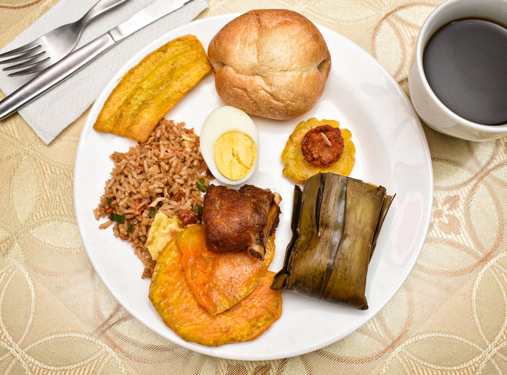 Assorted Classic Peruvian Breakfast Foods