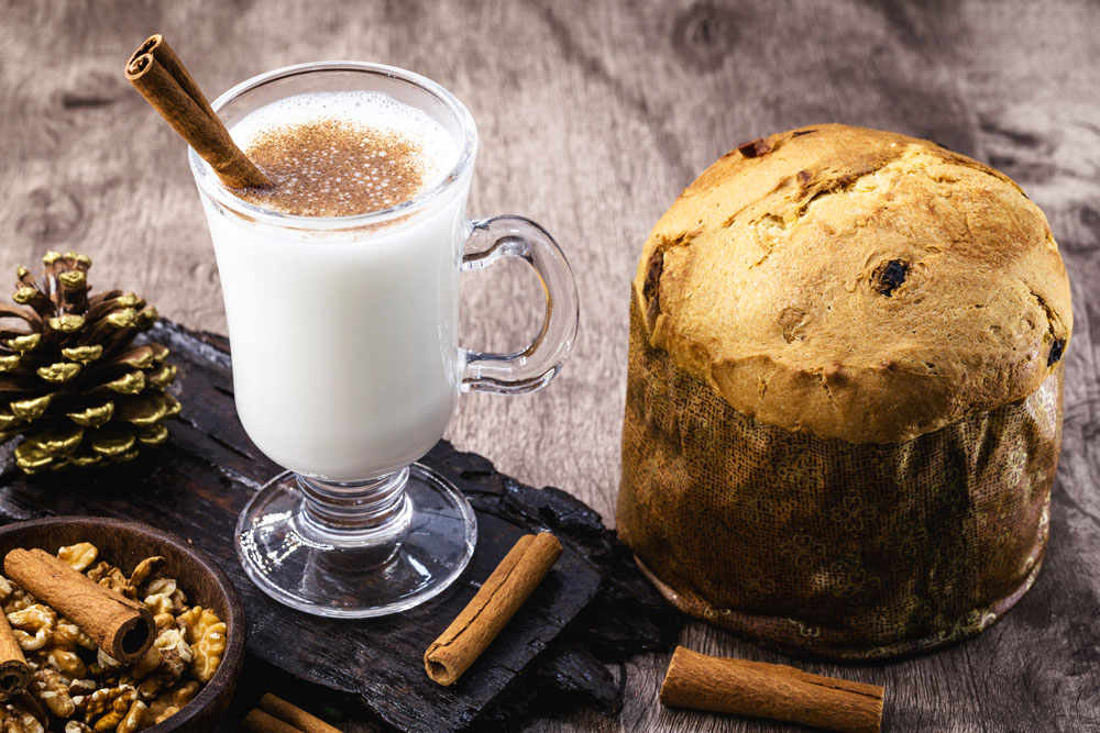 Puerto Rican Eggnog Coquito and Panettone