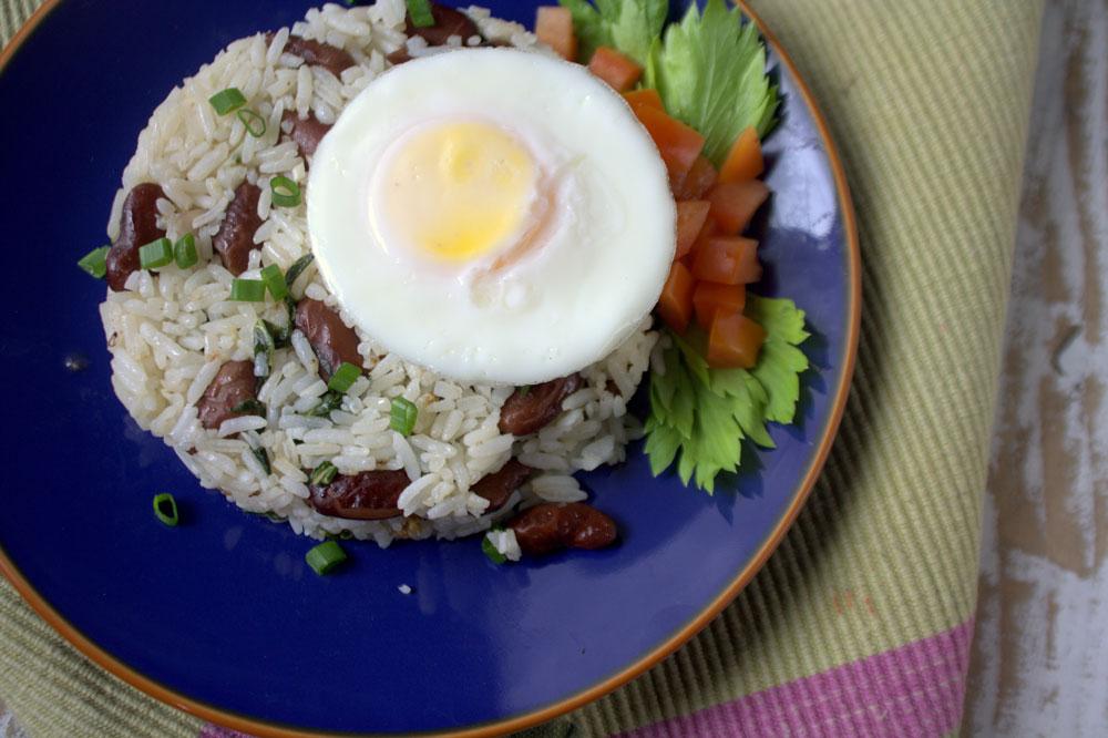 Costa Rican Eggs over Gallo Pinto