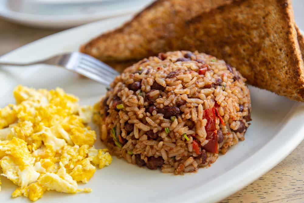 Costa Rican Gallo Pinto for breakfast