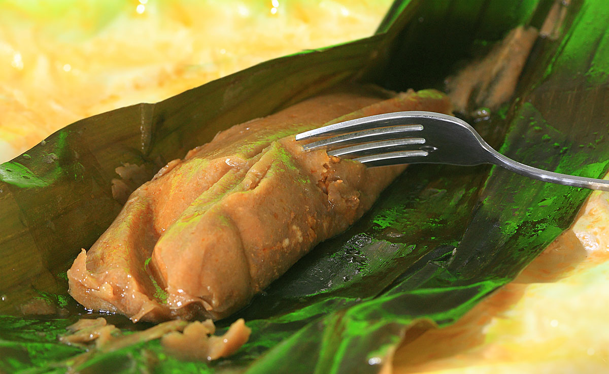 Puerto Rican Pasteles ina banan leaf