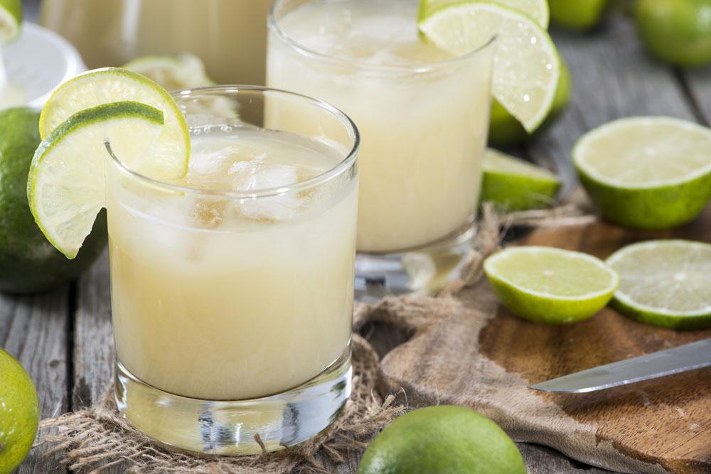 Peruvian Limonada Drink with Lime garnish
