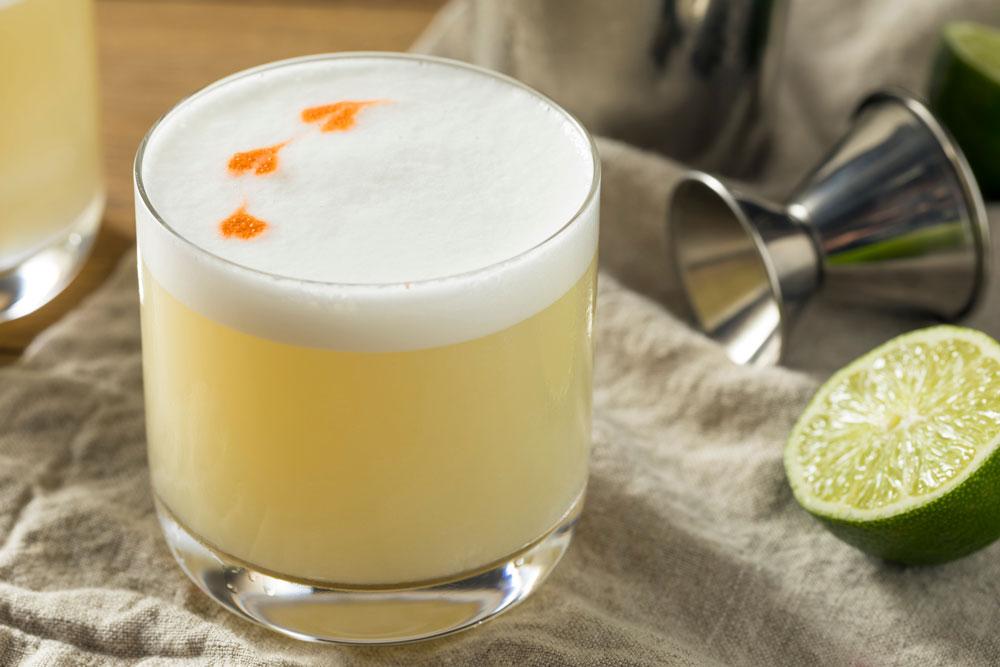 Peruvian Drink Pisco Sour Cocktail