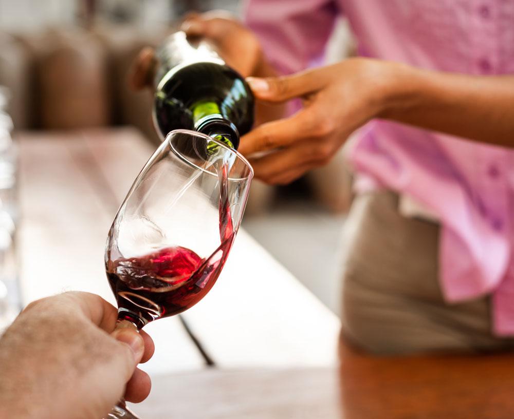 Peruvian Wine being poured