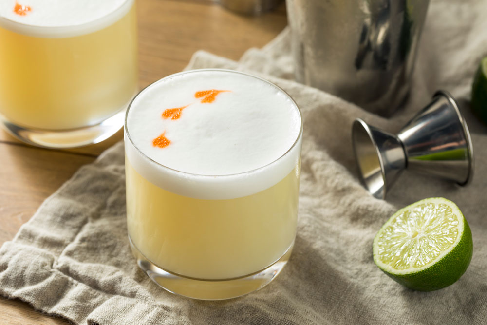 Pisco Sour Cocktail with Lime