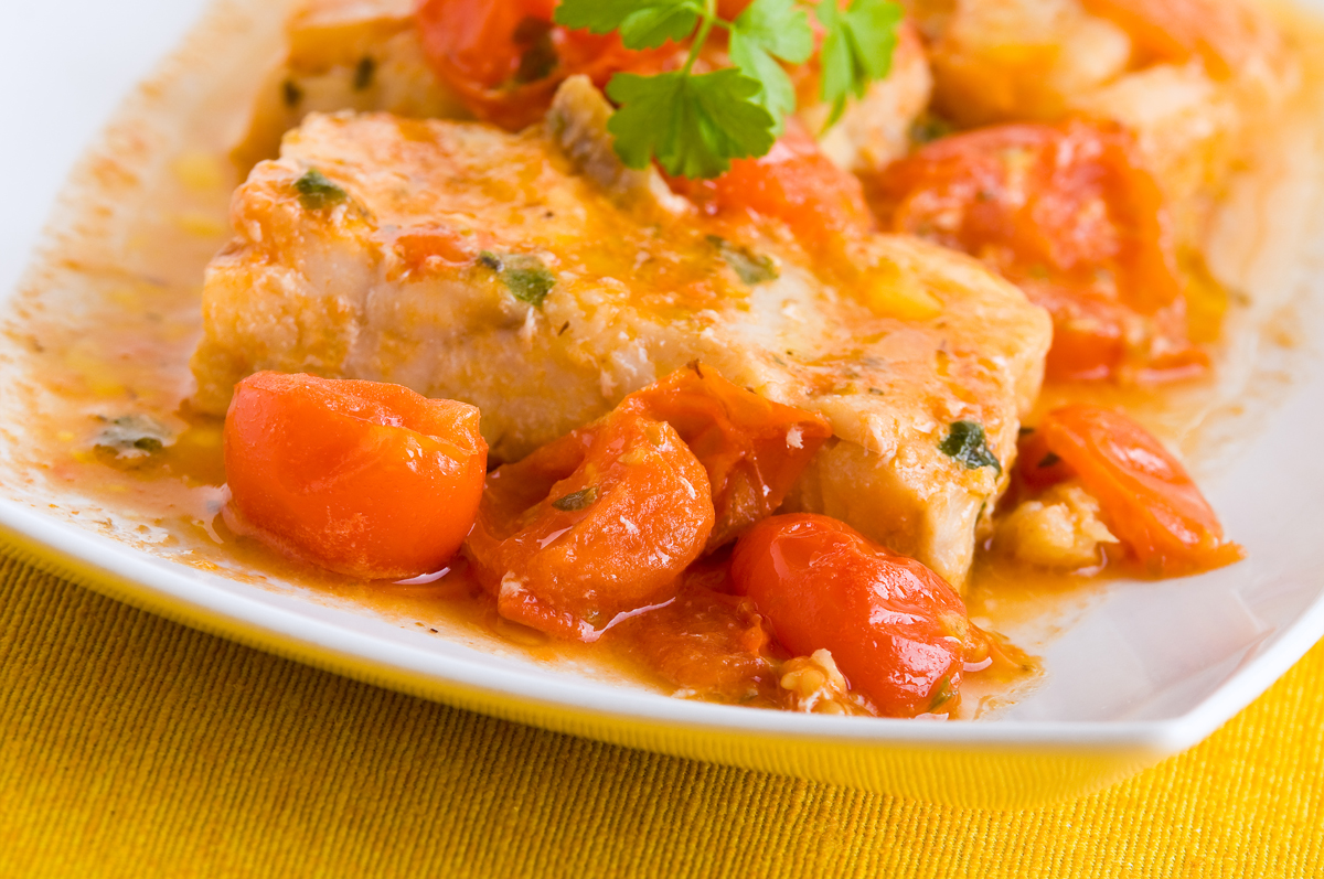 Salted Codfish with Tomato, Bacalao con Tomate