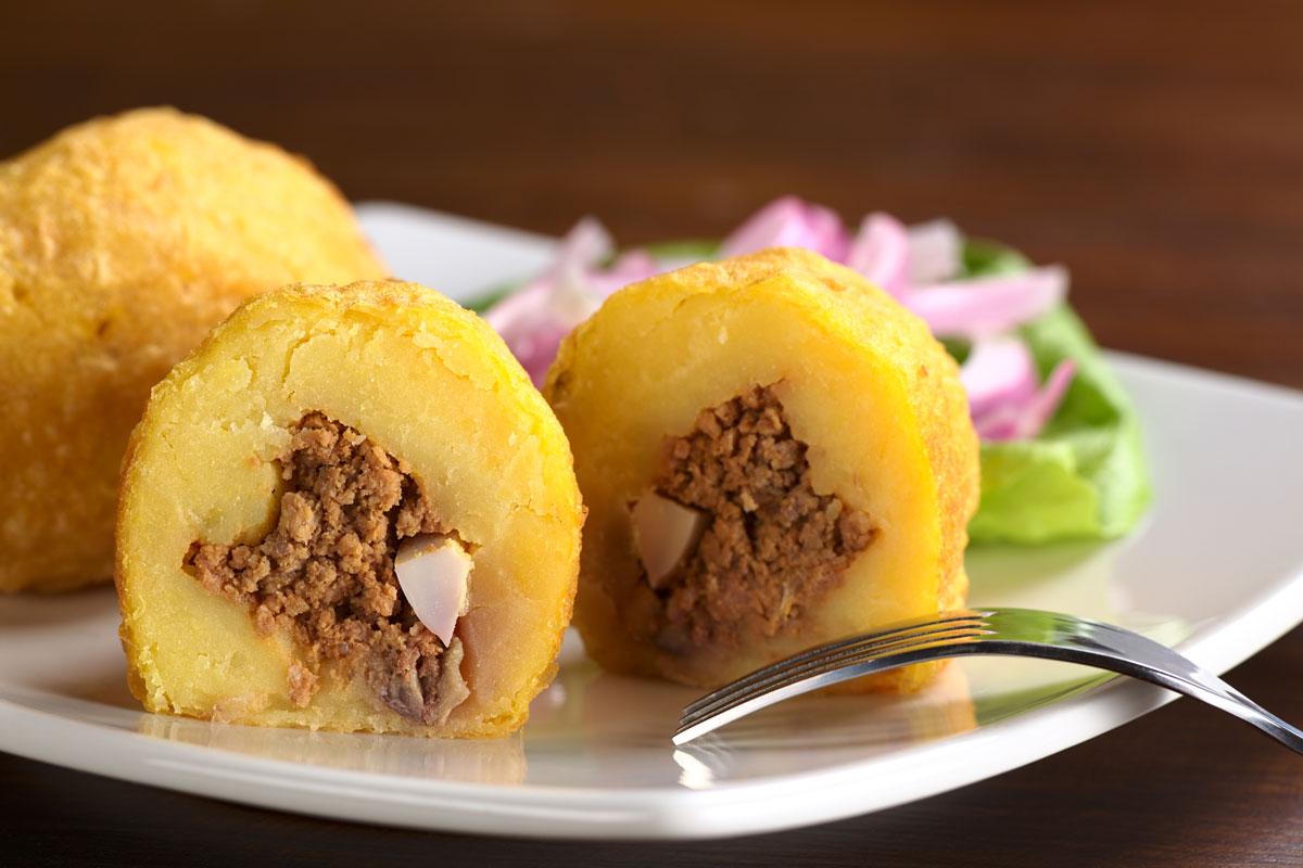 Papa Rellena Peruvian Dish
