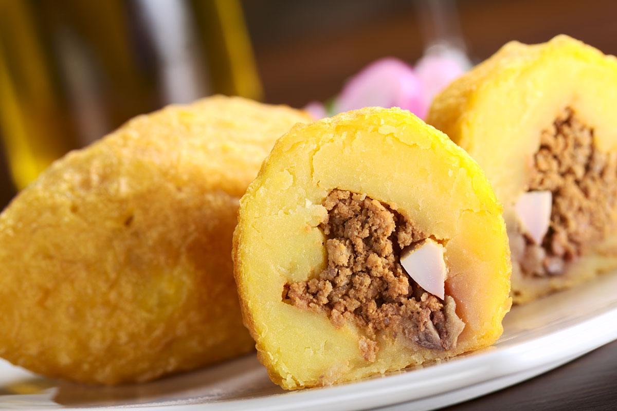 Papa Rellena Popular Peruvian Food