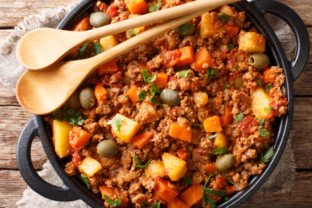 Picadillo with a variety of vegetables