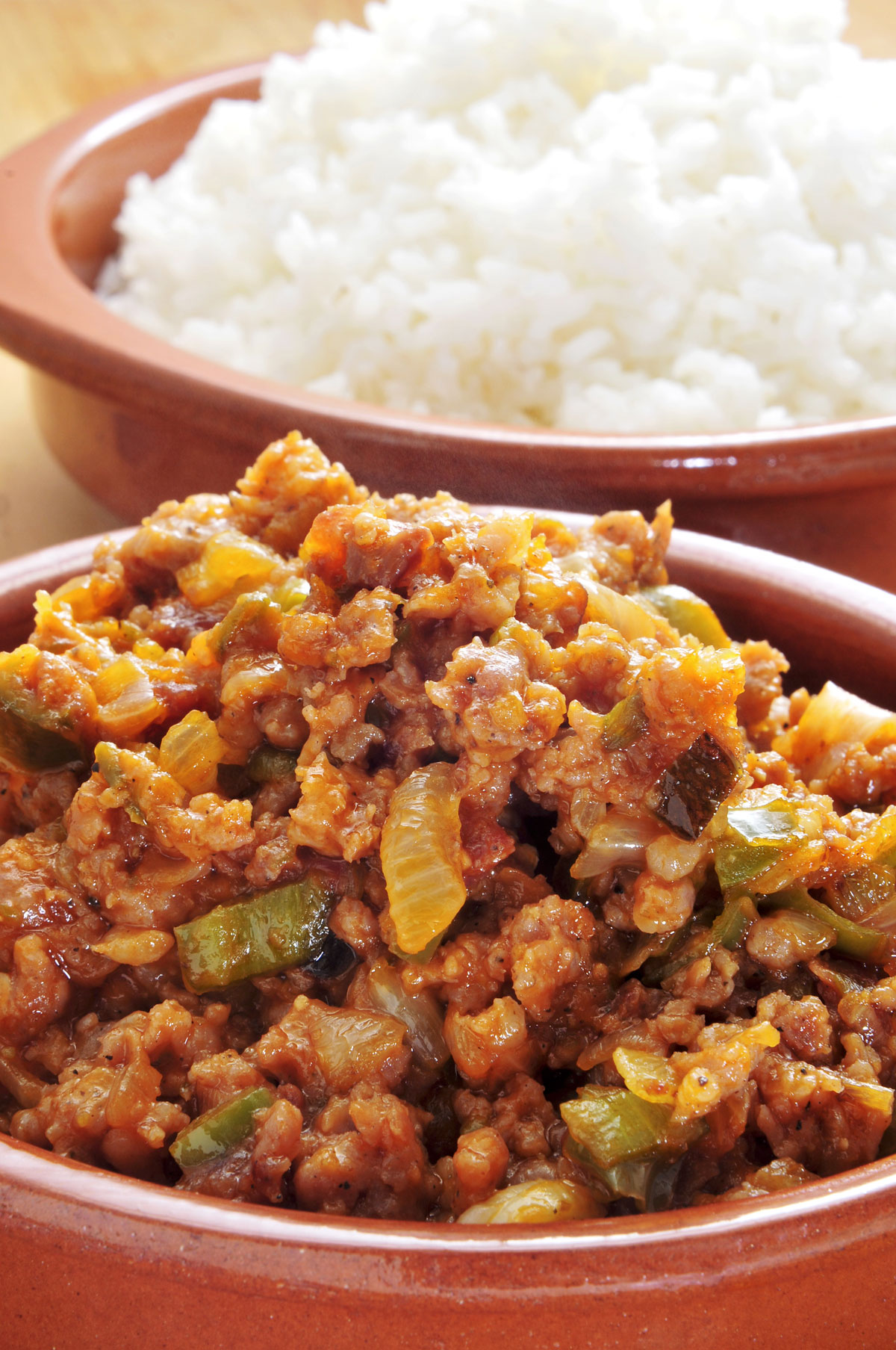 Picadillo with white rice